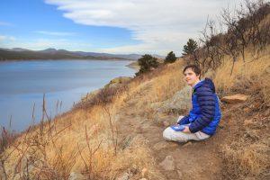 autistic youth at lake shore
